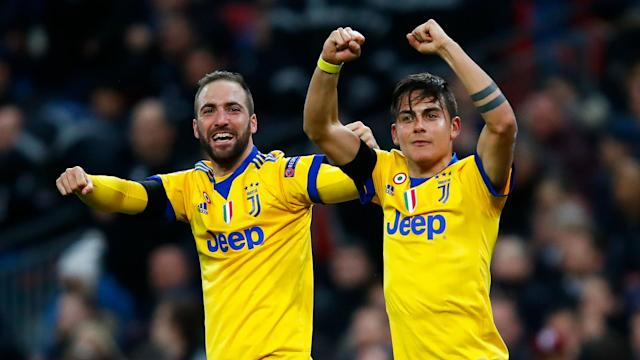 Two goals in three minutes from Juventus' Argentinian attacking duo saw them knock Tottenham out of the Champions League in the last 16.