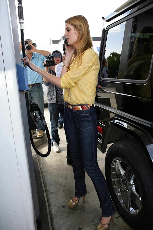 "Mischa Barton makes a phone call after crashing her friend Nicole Richie's car on Sunset Boulevard. MWD/<a href=""http://www.x17online.com"" target=""new"">X17 Online</a> - February 18, 2007"