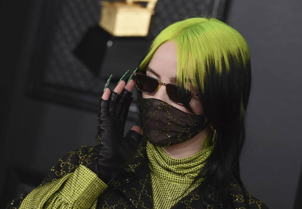 Billie Eilish arrives at the 62nd annual Grammy Awards at the Staples Center on Sunday, Jan. 26, 2020, in Los Angeles. (Photo by Jordan Strauss/Invision/AP)