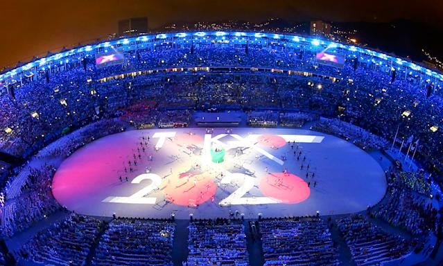 <p>Performers take part in the closing ceremony for the 2016 Rio Olympics. (REUTERS/Pawel Kopczynski) </p>