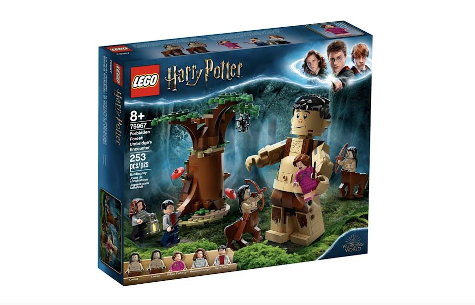 <p>The <span>Lego Harry Potter Forbidden Forest: Umbridge's Encounter Set</span> ($30, available on July 1) has 253 pieces and is best suited for kids ages 8 and up.</p>