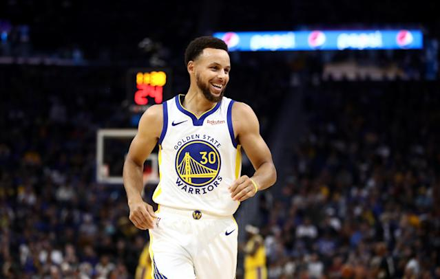 Though he's the oldest on the Warriors roster, Steve Kerr thinks that Steph Curry is at the peak of his game. (Ezra Shaw/Getty Images)