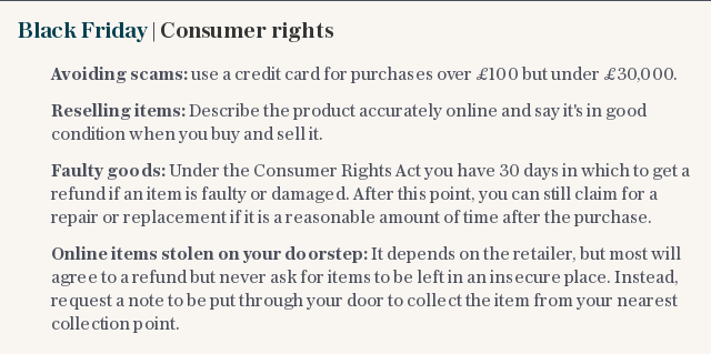 Black Friday | Consumer rights