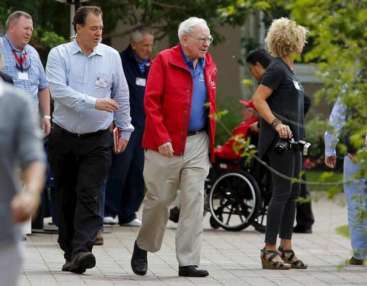 Buffett, Chairman, CEO and largest shareholder of Berkshire Hathaway attends the first day of the annual Allen and Co. media conference in Sun Valley
