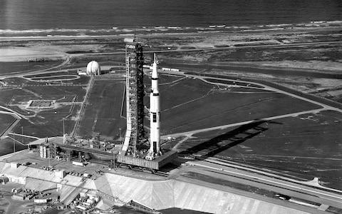 The Saturn V rocket prepares to launch Apollo 11 into space - Credit: NASA