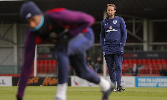 Gareth Southgate is unable to work on his prefered team because of injuries and is using youngsters against Germany and Brazil.