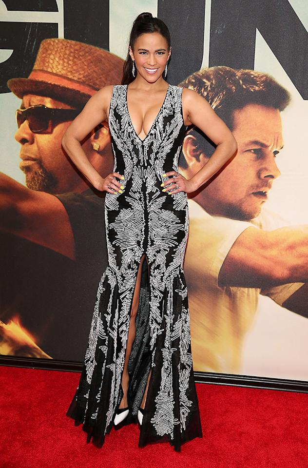 "NEW YORK, NY - JULY 29:  Actress Paula Patton attends ""2 Guns"" New York Premiere at SVA Theater on July 29, 2013 in New York City.  (Photo by Neilson Barnard/Getty Images)"