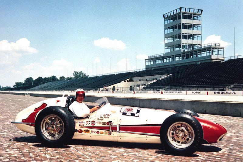 """Foyt the morning after winning the 1961 Indianapolis 500 aboard his Bowes Seal Fast Trevis-Offy.<span class=""""copyright"""">IndyCar Series</span>"""