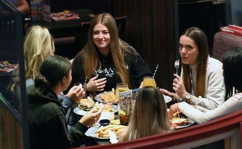 """<span class=""""caption"""">Pubs, restaurants and cafes in England, Scotland and Wales are now able to serve customers indoors.</span> <span class=""""attribution""""><a class=""""link rapid-noclick-resp"""" href=""""https://webgate.epa.eu/?16634349628007773501&MEDIANUMBER=56901279"""" rel=""""nofollow noopener"""" target=""""_blank"""" data-ylk=""""slk:Andy Rain/EPA-EFE"""">Andy Rain/EPA-EFE</a></span>"""