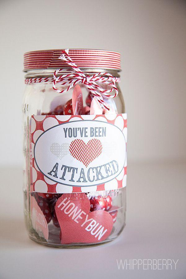 """<p>Use blogger Heather's free heart-shaped printables to fill a jar with tons of cute love notes. </p><p><strong>Get the tutorial at <a href=""""http://whipperberry.com/2013/01/heart-attack-valentines-day-link-party.html"""" rel=""""nofollow noopener"""" target=""""_blank"""" data-ylk=""""slk:Whipperberry"""" class=""""link rapid-noclick-resp"""">Whipperberry</a>.</strong></p><p><a class=""""link rapid-noclick-resp"""" href=""""https://www.amazon.com/Valentine-String-Cotton-Bakers-Holiday/dp/B06X9MZSNH/ref=sr_1_1_sspa?tag=syn-yahoo-20&ascsubtag=%5Bartid%7C10050.g.93%5Bsrc%7Cyahoo-us"""" rel=""""nofollow noopener"""" target=""""_blank"""" data-ylk=""""slk:SHOP TWINE"""">SHOP TWINE</a></p>"""