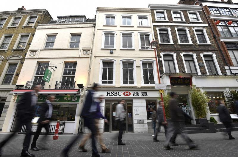 File photo of a branch of HSBC as seen in Chinatown in central London