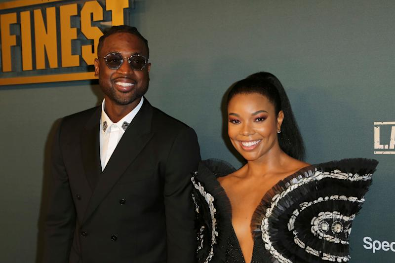 """Dwyane Wade, left, and Gabrielle Union arrive at the LA Premiere of """"L.A.'s Finest"""" at the Sunset Tower Hotel on Friday, May 10, 2019, in Los Angeles. (Photo by Willy Sanjuan/Invision/AP)"""