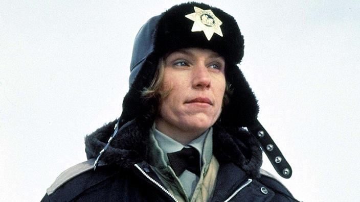 Frances McDormand won her first Academy Award for Best Actress as the police chief in the dark comedy, Fargo