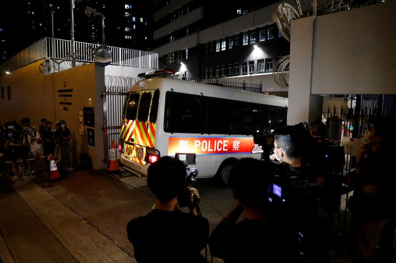 Hong Kong police arrest four under new security law in move slammed by rights group