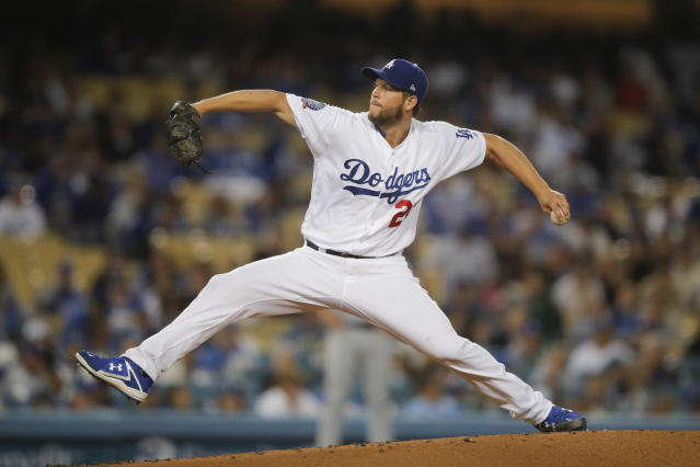Clayton Kershaw pitched seven innings in a loss for the Los Angeles Dodgers on Friday night. (AP)