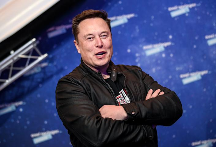 <p>SpaceX owner and Tesla CEO Elon Musk arrives on the red carpet for the Axel Springer award, in Berlin, Germany on 01 December 2020</p> ((EPA))
