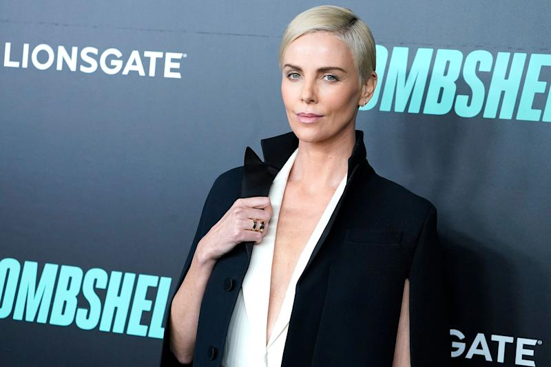 Charlize Theron at Bombshell premiere