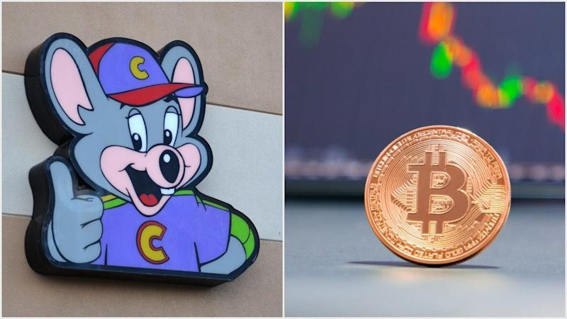 Chuck E. Cheese calls out bitcoin on Twitter as being a fake currency.   Source: Shutterstock; Edited by CCN