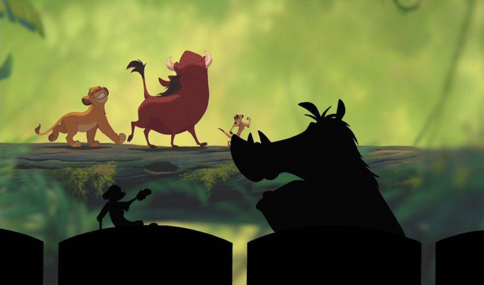 """Timon and Pumba retell the story of the first film from their own perspective in """"The Lion King 1½."""""""