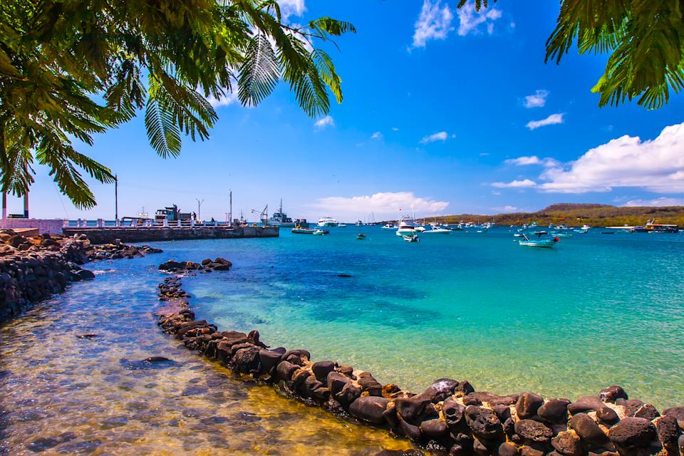 A stunning bay in the Galapagos Islands. (Supplied Body Shop/Grispb - stock.adobe.com)