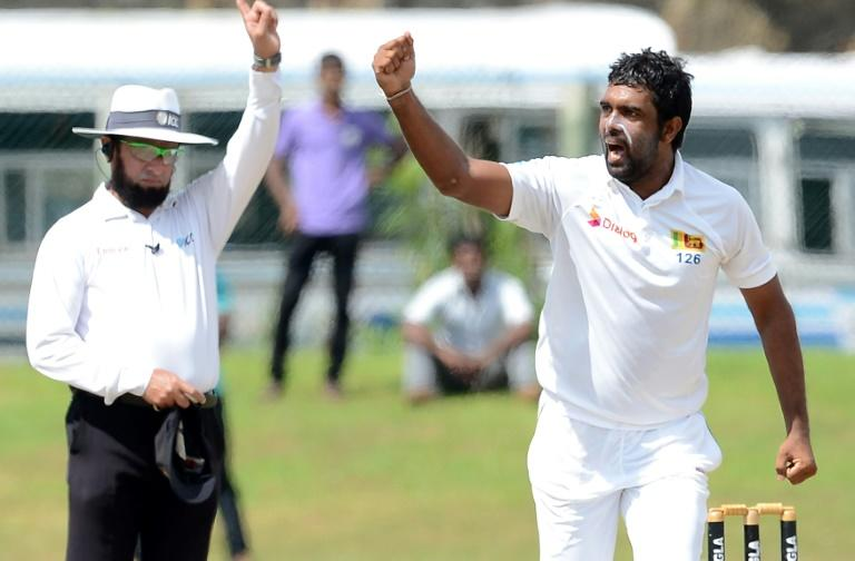 Off-spinner Dilruwan Perera claimed two wickets in the morning to trigger the Bangladesh collapse