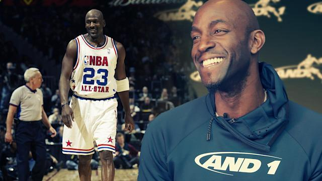 KG looks back on the 2003 NBA All-Star game, when he bested the GOAT in being named MVP.