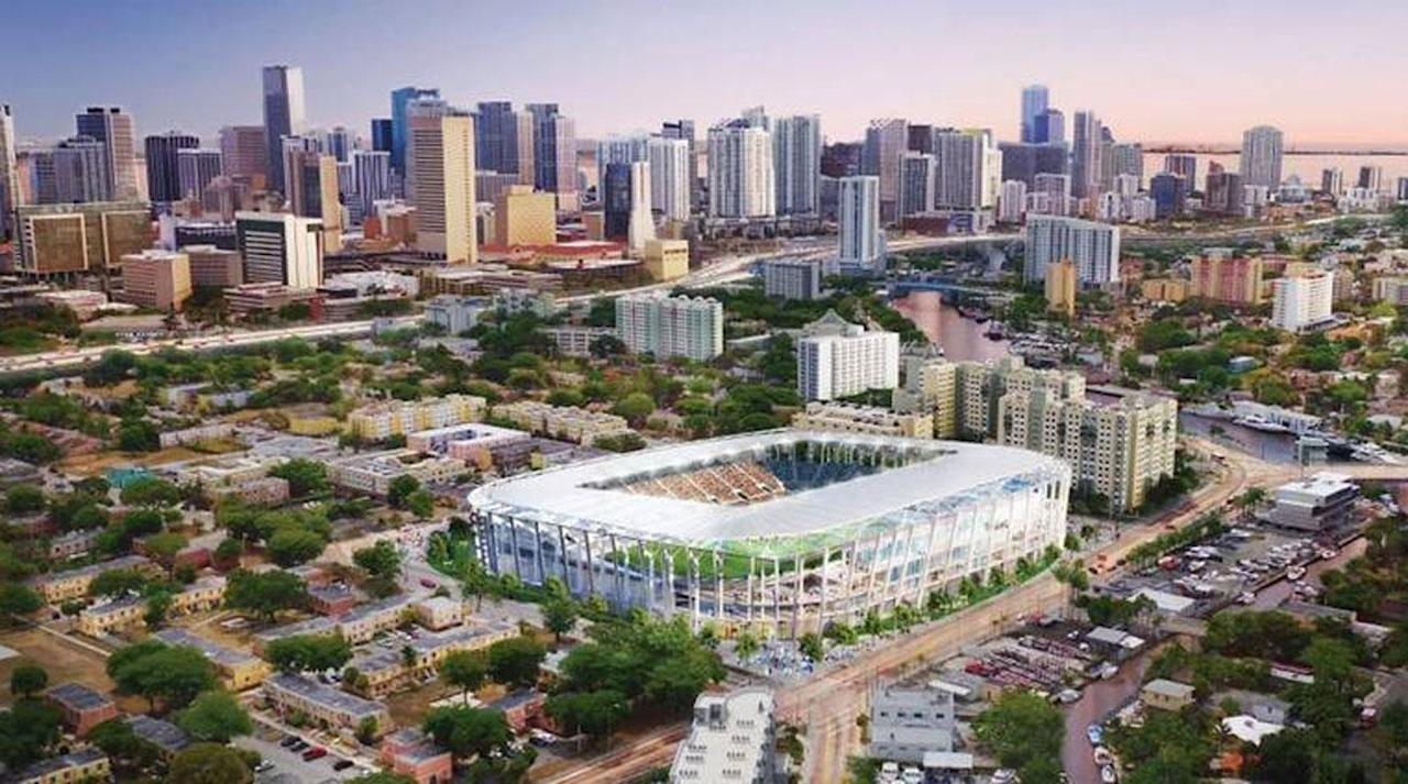 <p>David Beckham's ownership group in Miami has released a rendering for a stadium in the Overtown neighborhood, the latest desired site for an MLS expansion bid that kicked off in 2014.</p>