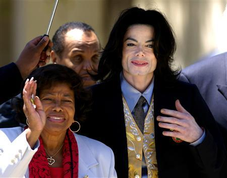 File photo of Michael Jackson departing the Santa Barbara County Courthouse with his parents in California.