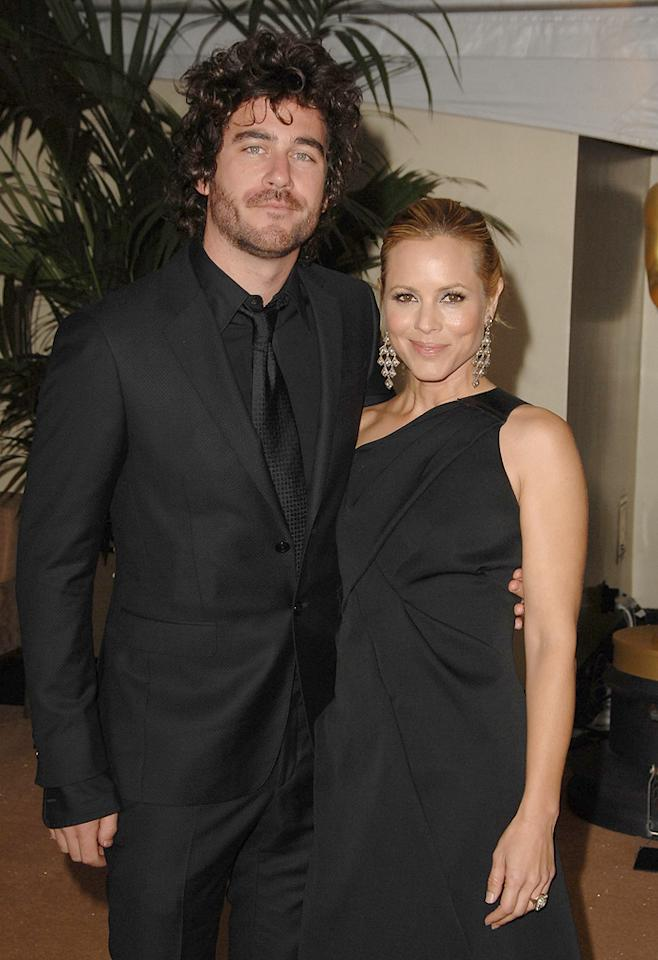 """Bryn Mooser and <a href=""""http://movies.yahoo.com/movie/contributor/1800019251"""">Maria Bello</a> at the Academy of Motion Picture Arts and Sciences' Inaugural Governors Awards - 11/14/2009"""