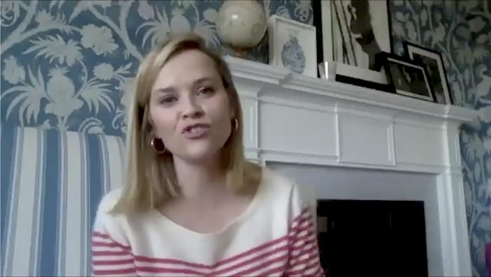 Reese Witherspoon filmed a video from her home.