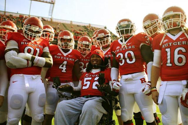 Eric LeGrand (52) is being honored by the WWE with its Warrior Award. (Getty)