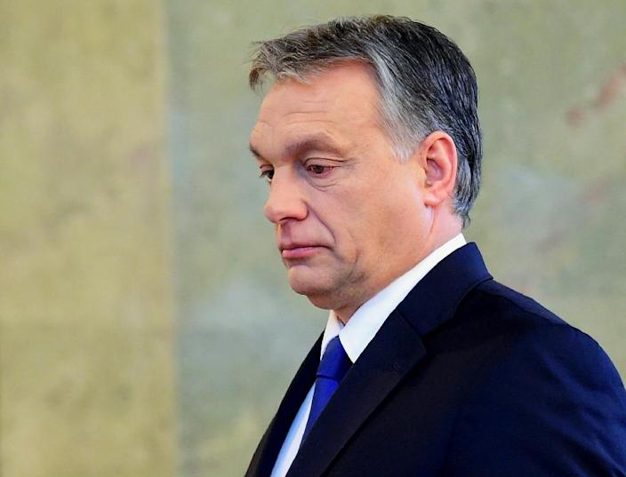 Hungarian Prime Minister Viktor Orban did not disclose the date of the referendum when he made the announcement at the parliament building in Budapest, on February 24, 2016 (AFP Photo/)