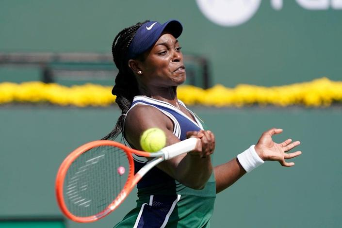 American Sloane Stephens will play compatriot Jessica Pegula in the next round (AP Photo/Mark J. Terrill) (AP)