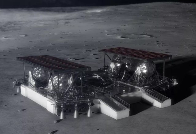 The lunar lander will carry a 300kg rover (Getty)