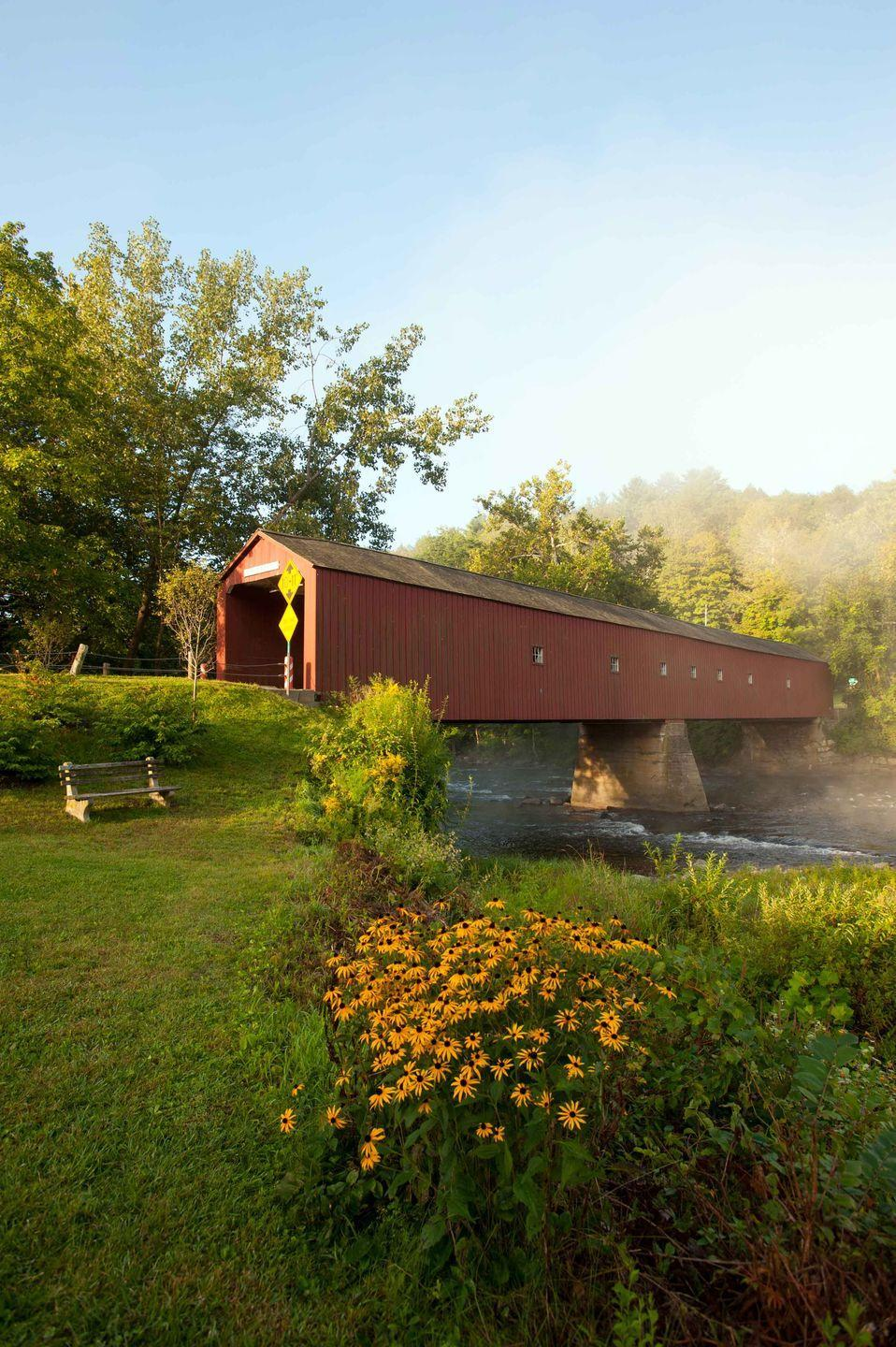 """<p><strong>The Drive: </strong><a href=""""https://www.tripadvisor.com/Tourism-g33820-Litchfield_Connecticut-Vacations.html"""" rel=""""nofollow noopener"""" target=""""_blank"""" data-ylk=""""slk:Litchfield Hills Loop"""" class=""""link rapid-noclick-resp"""">Litchfield Hills Loop</a></p><p><strong>The Scene: </strong>Jump on Route 7 to take in this stunning 100-mile loop that's best experienced in the fall. (Hint: Peak foliage usually occurs between September 26 and October 15!)</p><p><strong>The Pit-Stop: </strong>Step back into the 19th century by visiting <a href=""""https://www.tripadvisor.com/Tourism-g33781-Falls_Village_Connecticut-Vacations.html"""" rel=""""nofollow noopener"""" target=""""_blank"""" data-ylk=""""slk:Falls Village"""" class=""""link rapid-noclick-resp"""">Falls Village</a>. Your family can spend the entire day exploring this charming town, which includes gorgeous churches, railroad depots, streets, and historic houses.</p>"""
