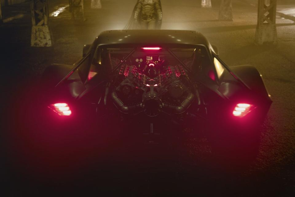 A close-up of the new Batmobile that will be seen in 'The Batman' (Photo: Matt Reeves/Twitter)