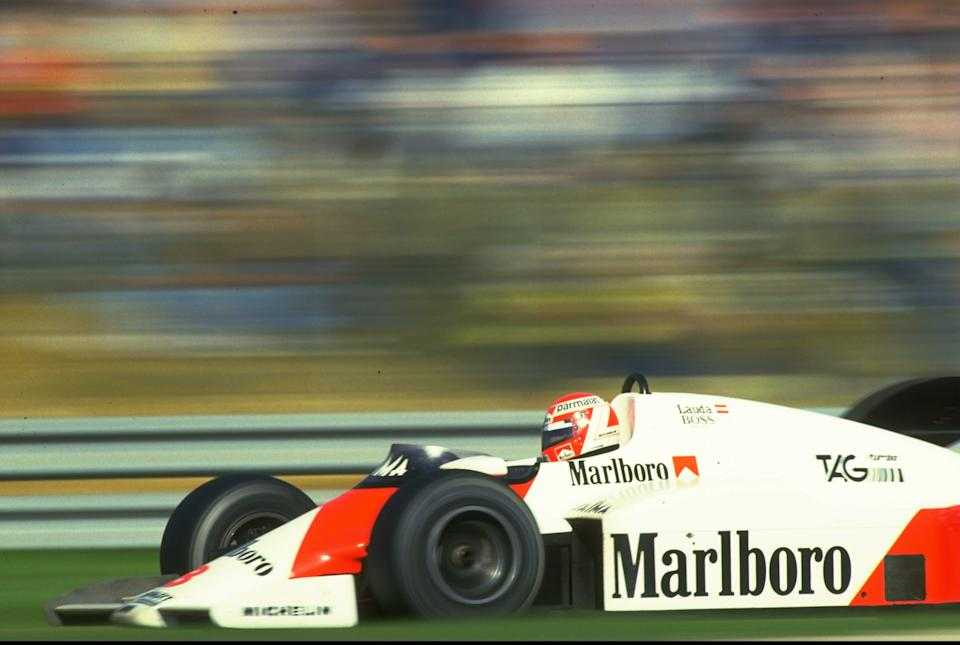 Lauda won three F1 titles between 1975 and 1984. (Credit: Getty Images)
