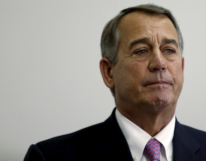 Former Speaker of the House John Boehner in Washington on October 27, 2015: REUTERS/Gary Cameron/File Photo