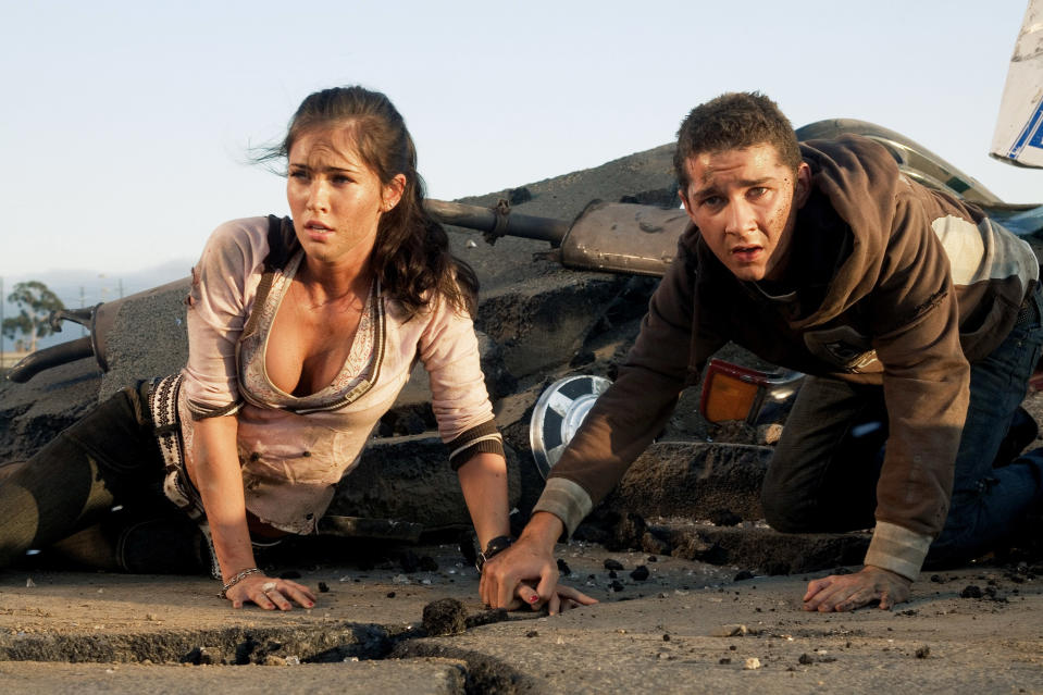 Fox and Shia LaBeouf in the original 'Transformers' (Photo: Paramount/courtesy Everett Collection)