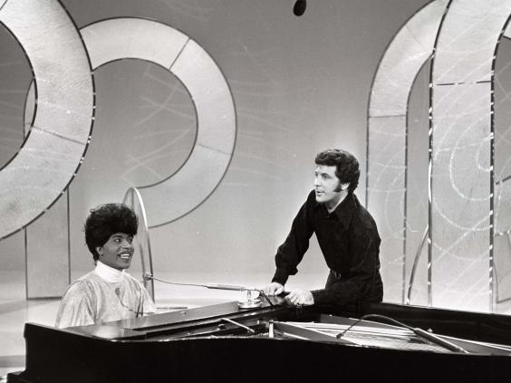 Richard guests on the TV show 'This Is Tom Jones' in 1969 (Rex Features)