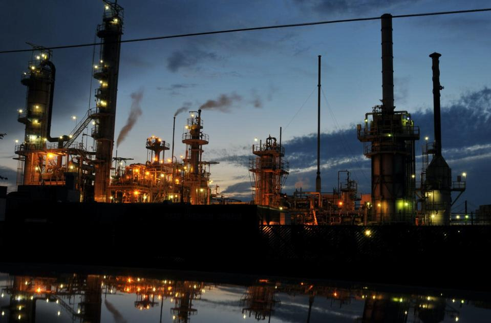 """<span class=""""caption"""">Aamjiwnaang First Nation is surrounded by 'Chemical Valley,' a large complex of petrochemical plants, located near Sarnia, Ont.</span> <span class=""""attribution""""><span class=""""source"""">(Jon Lin Photography/flickr)</span>, <a class=""""link rapid-noclick-resp"""" href=""""http://creativecommons.org/licenses/by-nc/4.0/"""" rel=""""nofollow noopener"""" target=""""_blank"""" data-ylk=""""slk:CC BY-NC"""">CC BY-NC</a></span>"""