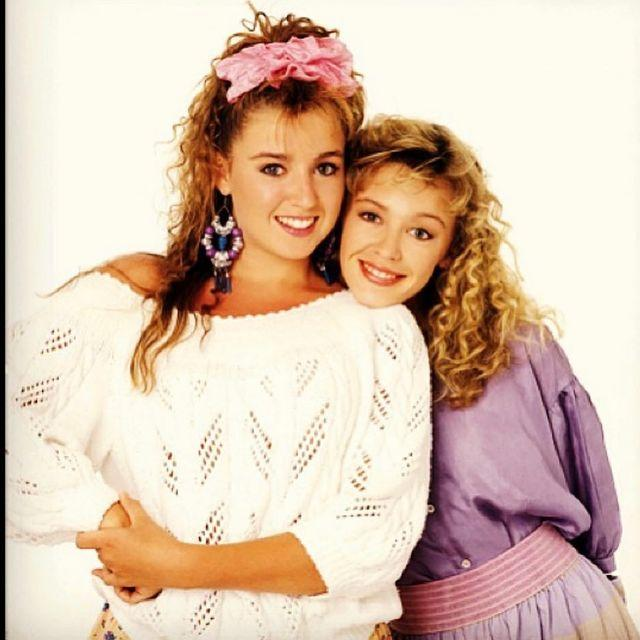A photo taken in 1988 of sisters Kylie and Dannii Minogue for TV Week magazine