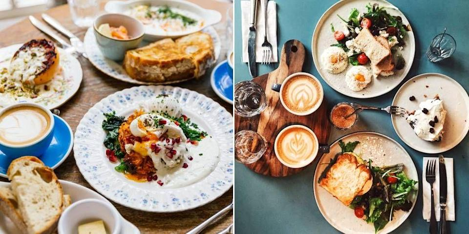 """<p>Brunch is now such an institution in <a href=""""https://www.cosmopolitan.com/uk/entertainment/travel/a33834273/best-hotels-in-london/"""" rel=""""nofollow noopener"""" target=""""_blank"""" data-ylk=""""slk:London"""" class=""""link rapid-noclick-resp"""">London</a> that many restaurants and <a href=""""https://www.cosmopolitan.com/uk/worklife/a27654005/primark-friends-themed-cafe/"""" rel=""""nofollow noopener"""" target=""""_blank"""" data-ylk=""""slk:cafes"""" class=""""link rapid-noclick-resp"""">cafes</a> have a dedicated menu just for this deliciously decadent meal, which slots in lazily somewhere between breakfast and afternoon tea. From healthy avo toast with a fresh smoothie to bottomless Bloody Marys and eggs Benedict, these are the absolute best brunches in London, worth adding to every Instagram feed immediately. </p>"""