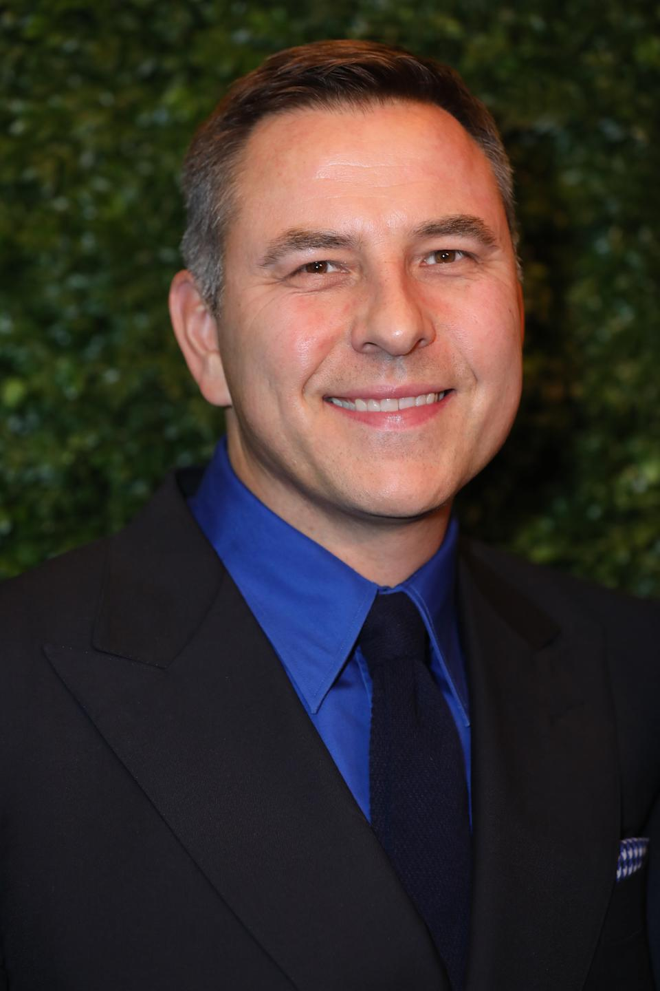 David Walliams arriving at the Charles Finch and Chanel pre-Bafta party at 5 Hertford Street in Mayfair, London.