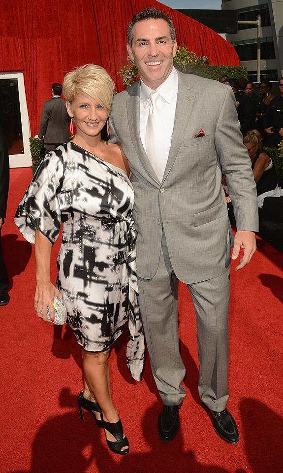 Retired NFL quarterback Kurt Warner and his wife Brenda arrive at the 2012 ESPY Awards.