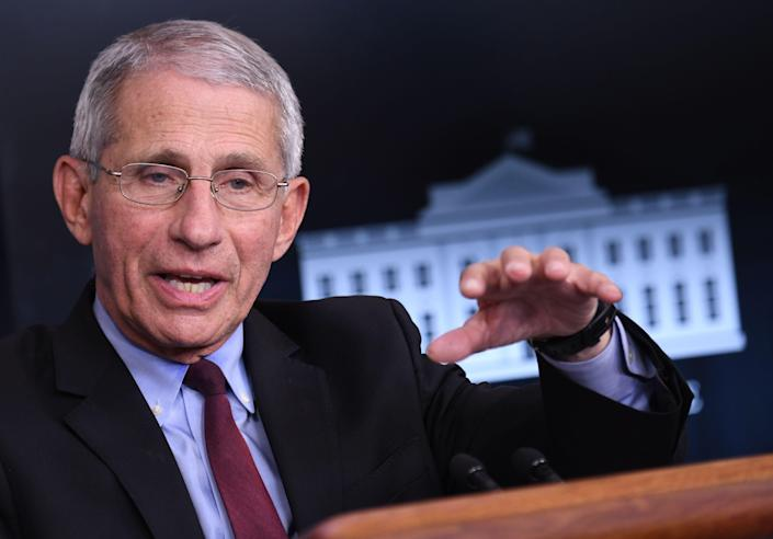 <p>Fauci has three daughters with his wife Christine Grady – Jennifer 34, Megan, 31, and Alison, 28.</p> ((AFP via Getty Images))