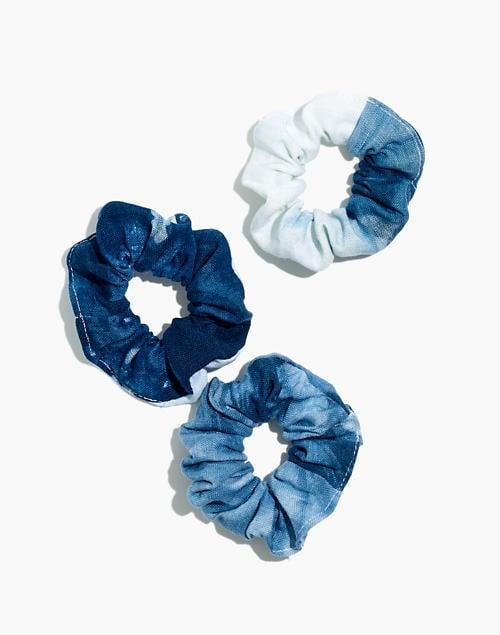 <p>We're feeling these ombre <span>Dale & Blue Indigo-Dyed Linen Scrunchies</span> ($13 for three).</p>