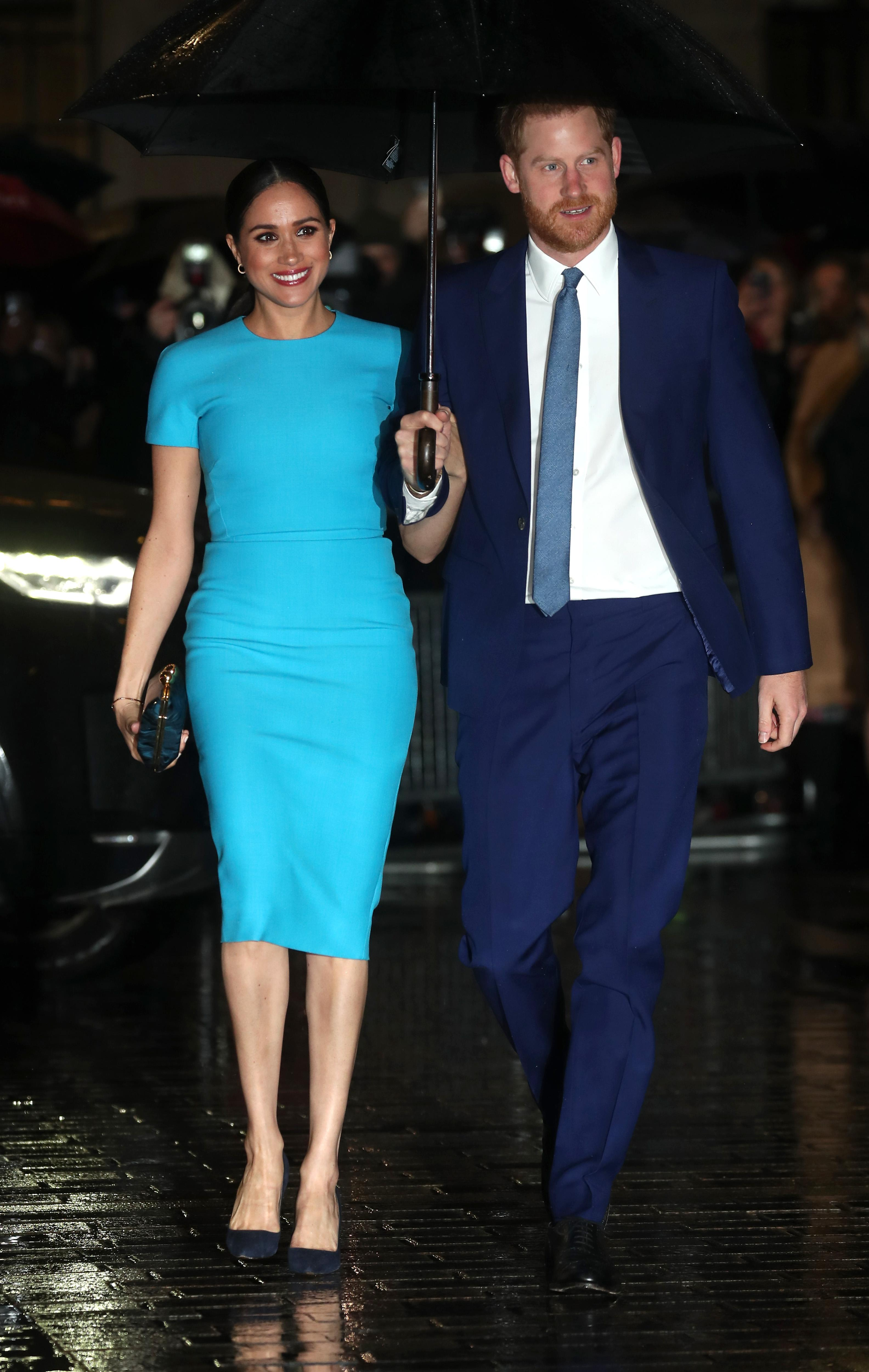 The Duke and Duchess of Sussex returned to the UK to attend The Endeavour Fund Awards. (Getty Images)