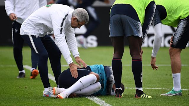 Mbappe's World Cup in doubt after leaving France training with ankle injury