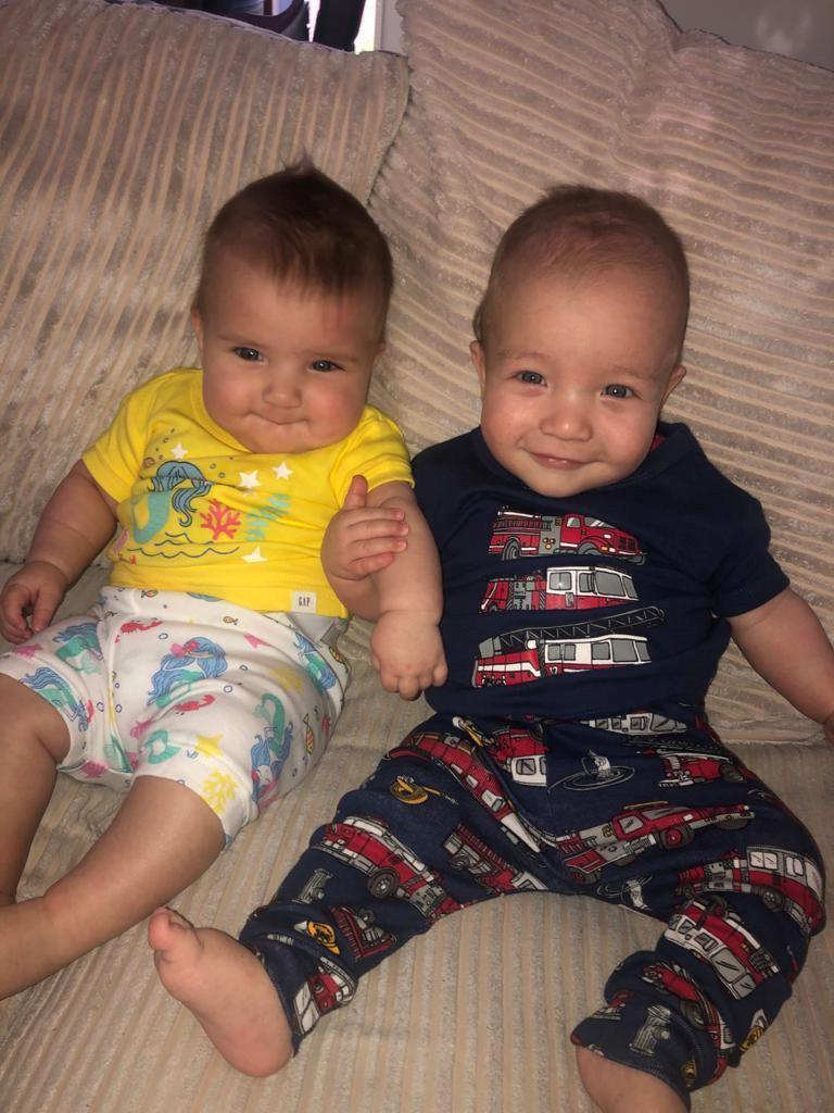 The twins are now a year old (swns)